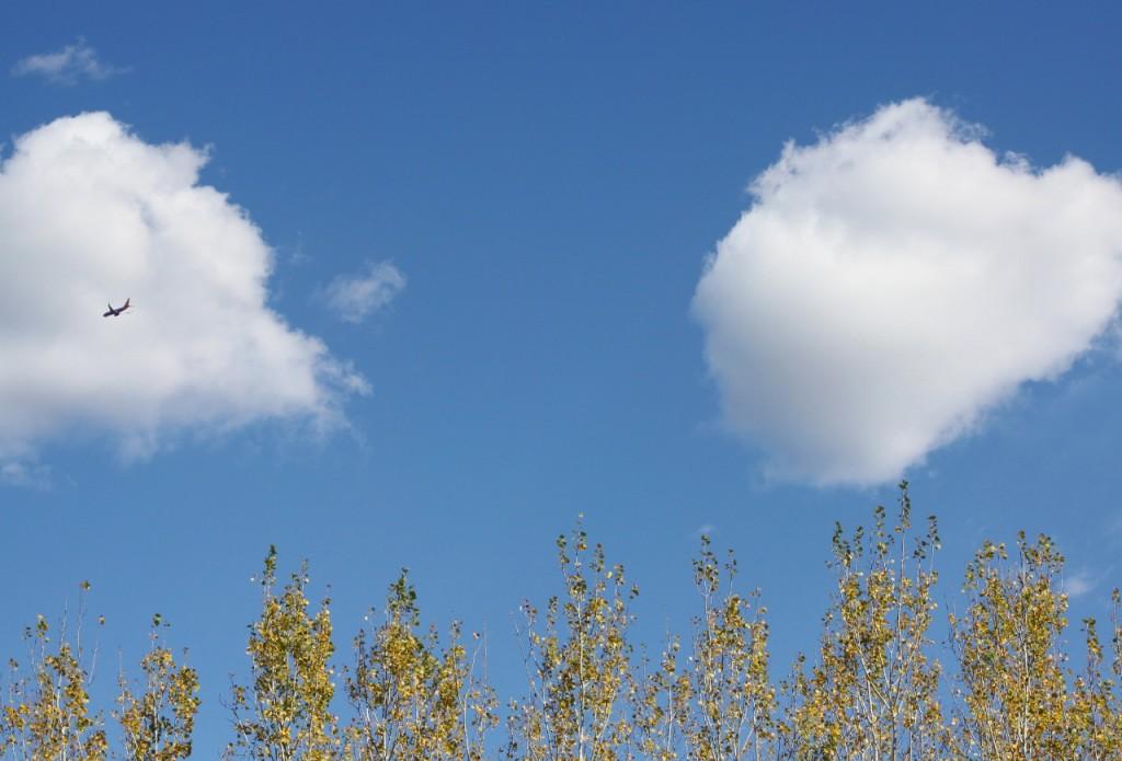 clouds w:plane
